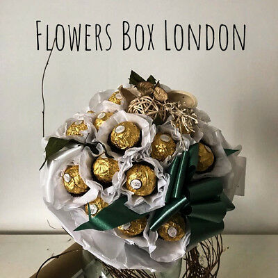 SWEET FLOWER GIFT - Rose Ferrero Rocher CHOCOLATE BOUQUET Buy Fresh Roses Online