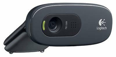 Logitech C270 HD Webcam - Black