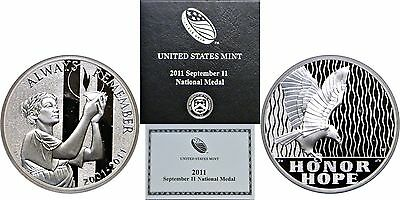 2011-W September 11 National Silver Medal, Proof, OGP