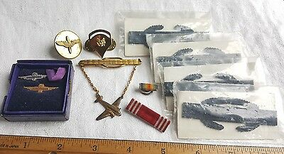 Vintage Military Lot Of Badges, Pins, Awards And More