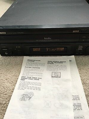 PIONEER LASER DISC PLAYER MODEL CLD-D702 Used/For Parts only **READ**