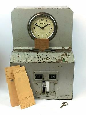 Vintage Industrial Clocking In Machine by Blick Time Recorder - Working Order