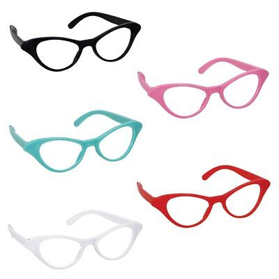 50's Cat Style Assorted Glasses (10 Pack) - Party Supplies