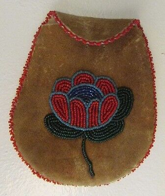 Old Plateau Beaded Hide Pouch