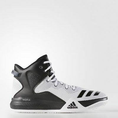 best website fa7d1 8d90a Mens Adidas Dual Threat Mid White DT Basketball Sneakers Shoes B72764 11   11.5