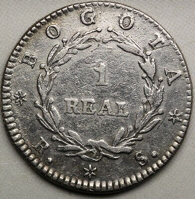 Colombia. 1 real 1838 R.S. Bogotá.