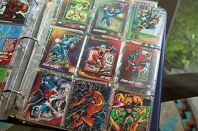 Card Collection Early 90's in binder Baseball Basketball Football X-Men