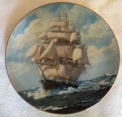 """W S George Fine China Plate """"The Flying Cloud Rounding The Cape"""" Numbered"""
