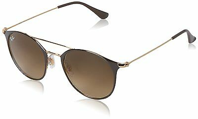 Ray-Ban RB3546 900985 Brown/Gold Frame Brown Gradient 52mm Lens Sunglasses