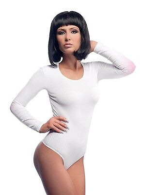 Ladies Top Quality Roundneck Long Sleeve Cotton Leotard/bodysuits Ref :2340