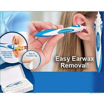 Smart Earwax Removal Soft Spiral Ear Cleaner Multifunctional Swab Easy Set UK