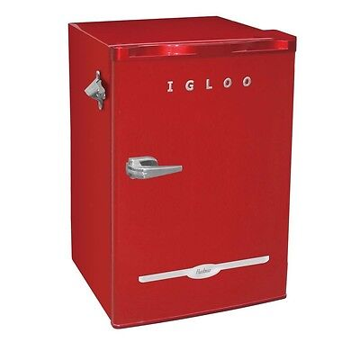 3.2 Cu Ft Compact Fridge / Mini Refrigerator in Red, FR376-RED - ENERGY STAR