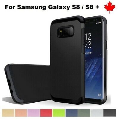 For Samsung Galaxy S8 / Plus Dual Layer Slim Armor Shock Proof Hybrid Case Cove