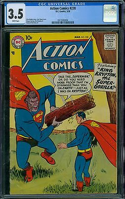 Action Comics 238 CGC 3.5 - White Pages