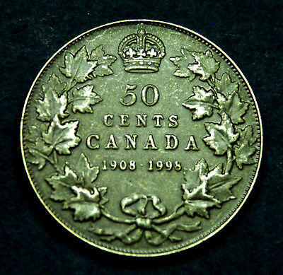 1908-1998 Canadian sterling silver 50¢ matte finish - gorgeous coin