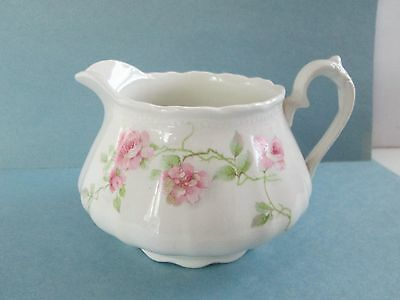 Vintage / Antique W.S. George Iris Floral Pitcher ,Excellent condition Low Price
