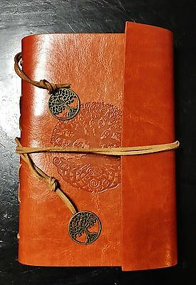 Vintage Inspired Leather Tree of Life Compendium Exercise Book Diary Journal