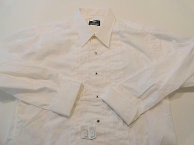 NWT Men's Gitman Brothers White Ruffled Tuxedo Shirt SIze 16 - 33 New With Tags