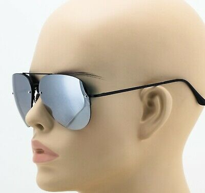 Aviator Sunglasses Vintage Mirror Lens New Men Women Fashion Black Rimless Frame