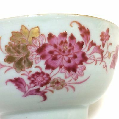 18th Century Chinese Export Porcelain Bowl with Lotus Flower Decoration