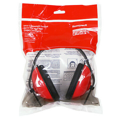 Honeywell Non-Folding Passive Earmuff, Black Band, Red Earcups - RWS-53013