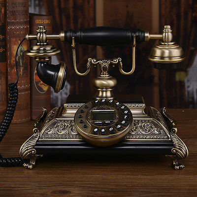 Wood Luxury High class European Antique Vintage palace  corded telephone F043