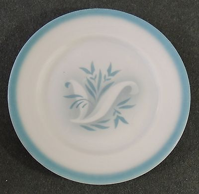 Syracuse China Restaurant Ware Turquoise Rim Band Bread & Butter Dessert Plate