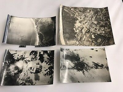 World War 2 Bomber Aerial Photos Authentic Lot Of 4 Lt16