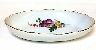 Small Meissen Serving Bowl With Flower Decoration Cross Sword Mark