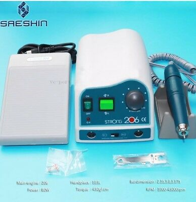 Original SAESHIN Strong 206+103L Dental Lab Polishing Handpiece Micro motor 45K