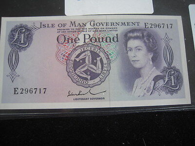 1983 Isle of Man 1 Pound UNC Paper Currency