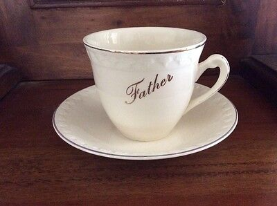 Aynsley &'Co vintage 'Father' cup & saucer Rare