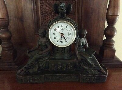 Antique Empire style Resin mantle clock reproduction