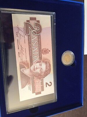 1992 Canada Specimen Note And Coin Proof Set + Stanley Cup 1st Day Cover