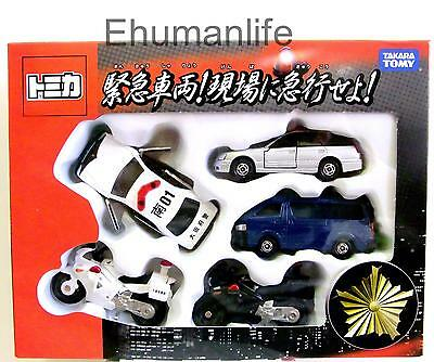 Tomica Gift Rushed to the Scene! Emergency Vehicle Mini Diecast Car Toy 5pcs Set