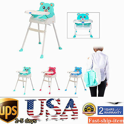 4 in 1 Baby High Chair Convertible Table Seat Booster Toddler Feeding Highchair