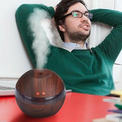 LED Ultrasonic Humidifier USB Essential Oil Purifier Aroma Aromatherapy Diffuser