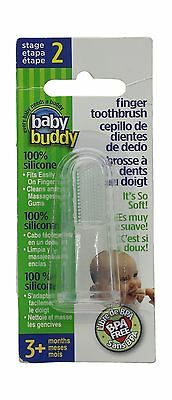 Baby Buddy Silicone Finger Toothbrush Clear