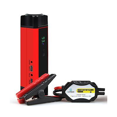 Car Rover 1000A Peak 14800mAh Portable Car Jump Starter Battery Booster Charg...