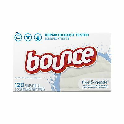 Bounce Fabric Softener Sheets Free & Gentle 120 Count
