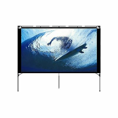 Outdoor Projector Screen - Foldable Portable Outdoor Front Movie Screen Setup...