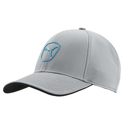 New Puma Cat Patch 2.0 Adjustable Golf Hat - Quarry/Ocean
