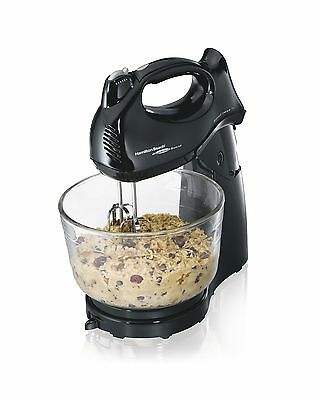 Hamilton Beach 64698 Hand/Stand Mixer with Glass Bowl Black