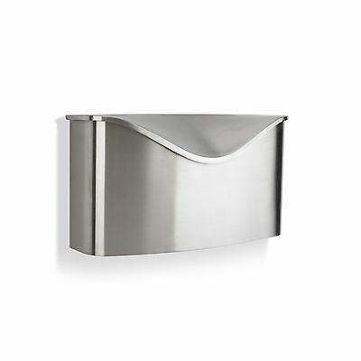 Umbra Postino Wall-Mount Mailbox Stainless Steel Silver