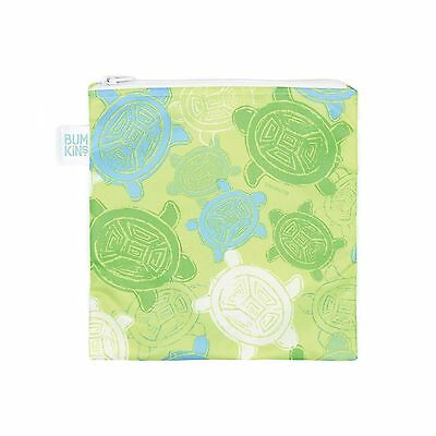 Bumkins Reusable Sandwich and Snack Bag Turtle Green 1-Pack Turtles