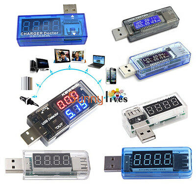 USB Volt Current Voltage Doctor Charger Capacity Tester Meter Power Bank