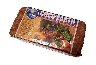 Coco Earth 650g Coconut Coir Wrapped Compressed Brick - Great for Container G...