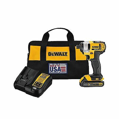 "DEWALT DCF885C1 20V Max 1/4"" Impact Driver Kit Impact driver with 1 battery"