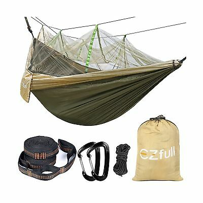 Double Camping Hammock with Mosquito Net EZfull - Lightweight Portable Hammoc...