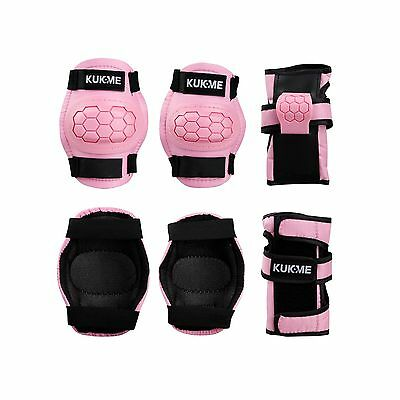 KUKOME Child Sports Protective Gear Safety Pad Safeguard Knee Elbow Wrist Sup...